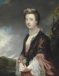 portrait of mary, countess of courtown (d. 1810), lady of the bedchamber to queen charlotte by joshua reynolds