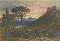 illustration to milton's lycidas by samuel palmer