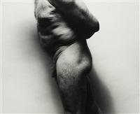 self-portrait (side torso bent with large upper arm) by john coplans