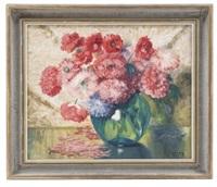 bodegón con flores rosas by ignacio rosas