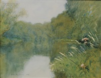 river in spring by horace c. dunham