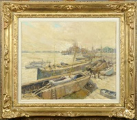 bateaux en cale sèche by alfred théodore joseph bastien