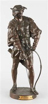 archer, 13e siècle by emile louis picault