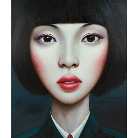 untitled from beijing girl series by zhang xiangming
