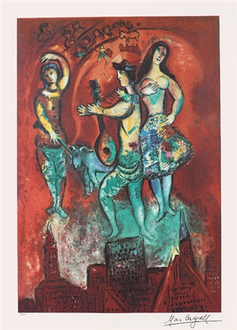 馬戲表演 circus performance by marc chagall