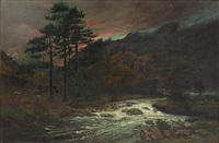 an autumn evening in washdale, cumberland by william barnes boadle