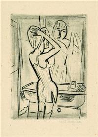 mädchen vor dem spiegel by willy robert huth