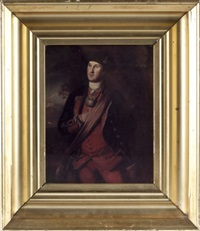 untitled (george washington's 1772 portrait in the lee chapel at washington & lee university, lexington, virginia) by michael miley