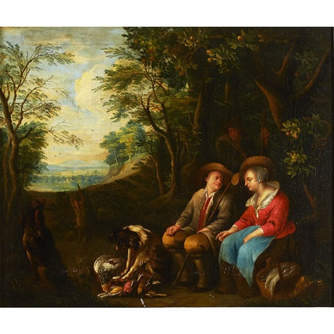 peasant couple after the hunt by sir peter paul rubens