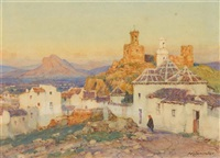 view from the village by a. moulton foweraker