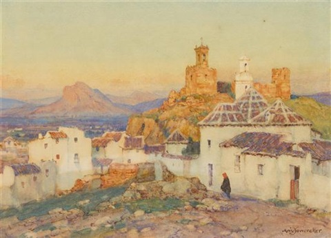 view from the village by a moulton foweraker