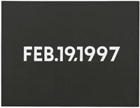 feb. 19, 1997 by on kawara