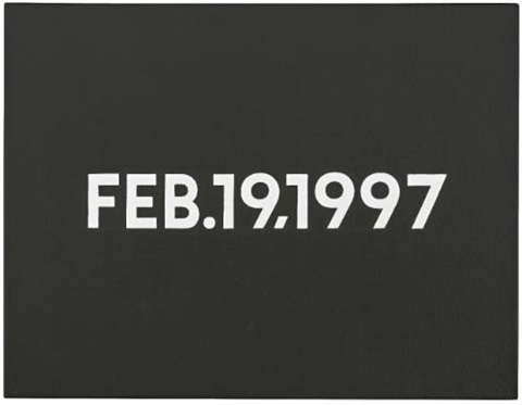 feb 19 1997 by on kawara