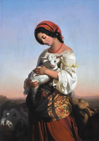 the italian shepherdess by rudolf w. a. lehmann