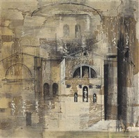 the salute, venice by john piper
