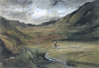 north wales landscape (ogwen valley) by william selwyn