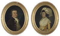portrait of a gentleman (+ portrait of a lady; pair) by francis alleyne