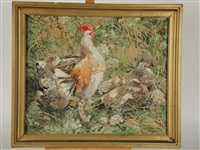 coq et poules by helen riviere