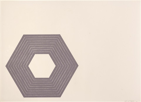 purple series set of 9 by frank stella