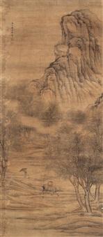 牧童遥指杏花村 (landscape) by liu yunzhi