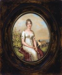 portrait de hortense de beauharnais by étienne charles leguay