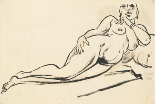 liegende frau reclining nude by max pechstein