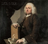 gentleman with book and quills by john astley