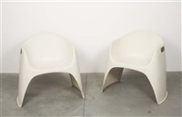 pair of stackable chairs, model no. 401/4 by walter pabst