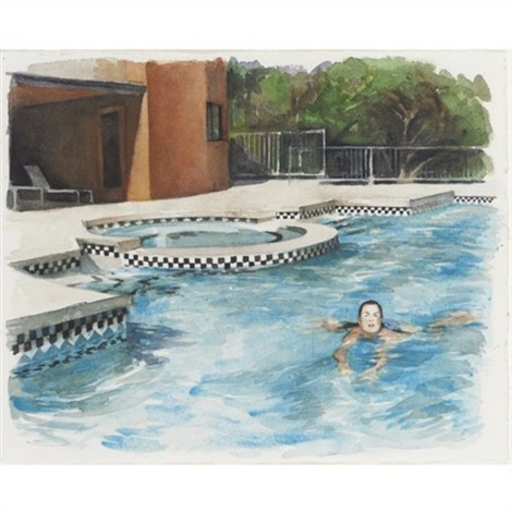 untitled morning swim by delia brown