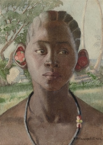 portrait of a young girl by r campbell