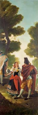 la maja y los embozados (fragmento) by francisco-javier amerigo y aparici