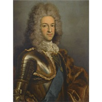 portrait of prince james edward stuart, the old pretender, wearing the garter sash by antonio david