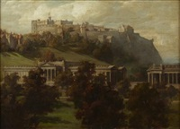 princes street gardens looking west to the national gallery and castle by arthur percy dixon