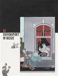 humo - duivensport in belgië (cover) by joost swarte