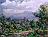 paisaje con carro by guillermo fresquet