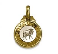 a capricorn pendant/necklace by bulgari