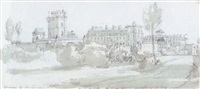 view of the environs of paris from belle vue by george arnald