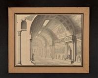 projet de galerie reliant le louvre aux tuileries vers 1810 by charles percier