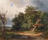 eine wienerwaldansicht (?) by michael haller