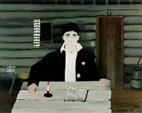 john brown reading his bible by horace pippin