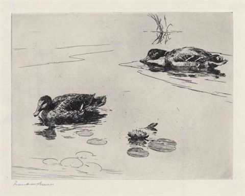 mates geese over a marsh 1924 lrgr 2 works by frank weston benson