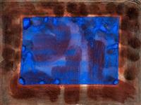 blue listening ear by howard hodgkin