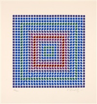 trois estampes (3) by victor vasarely