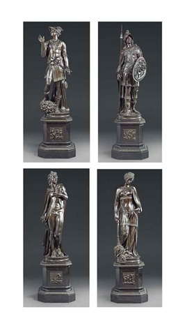 figures of apollo mercury pallas and peace set of 4 by jacopo sansovino