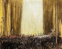 interno abbazia by pietro annigoni
