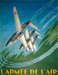 fouga magister en vol by paul langelle