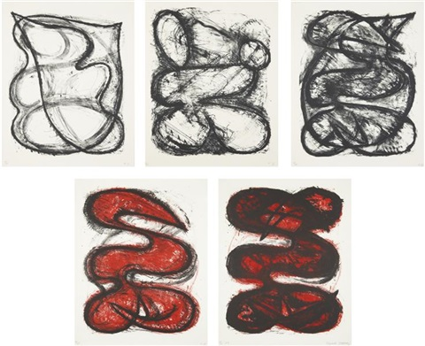 untitled series states i v set of 5 by elizabeth murray