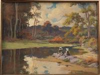 paysage aux bretonnes by mathurin janssaud