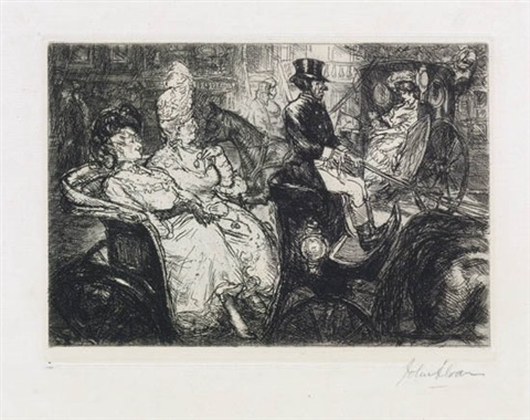 fifth avenue critics patrol party bob cat wins 3 works various dates sizes and conditions by john french sloan