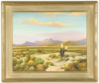 desert landscape in bloom by george sanders bickerstaff